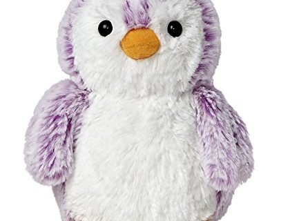 Aurora World Pom Pom Penguin Bright Violet Plush, 6″