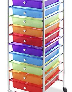 Whitmor 10 Drawer Craft Organizer Cart