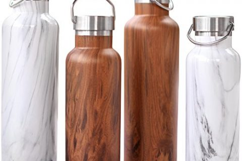 Stainless Steel Insulated Water Bottle – New Double Walled Vacuum Bottles Designed to be Leak Proof To Keep Drinks Ice Cold – Wide Mouth Thermos Water Bottle Lets You Easily Add Ice or Fruit