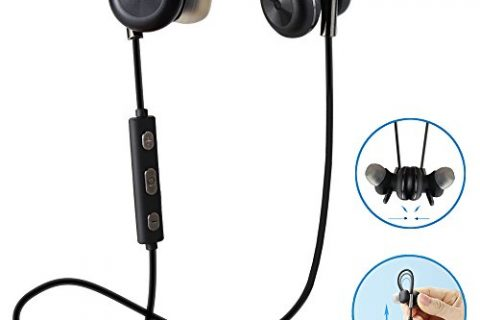 Comsoon Bluetooth Headphones, Magnet Attraction Adjustable Ear HookWireless V4.1 In-ear Sports Earbuds Noise Cancelling Sweatproof with Microphone