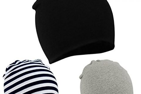Zando Baby Toddler Infant Kids Cotton Soft Cute Lovely Knitted Beanies Hat Cap A 3 Pack-Mix Color2 Large 1-4 years