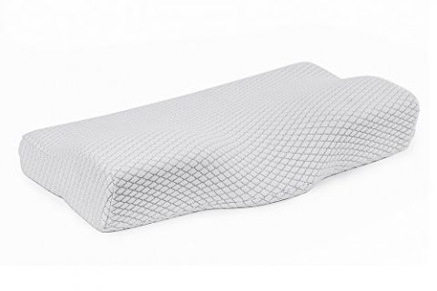 KUMFI Contoured Memory Foam Pillow Butterfly Shaped Ergonomic Support for Neck Pain Relief