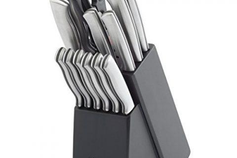 Farberware 15-Piece Stamped Stainless Steel Knife Block Set