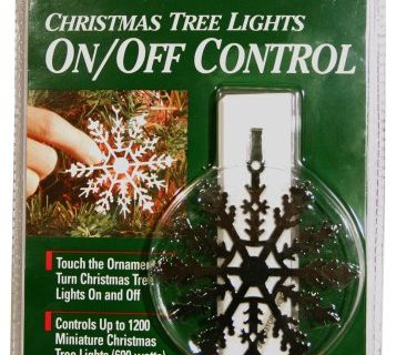 Xodus Innovations LLC 0190007 Snowflake Christmas Tree, Christmas Ornament On/Off Christmas Light Controller