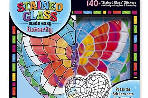 140+ Stickers – Melissa & Doug Stained Glass Made Easy Activity Kit: Butterfly