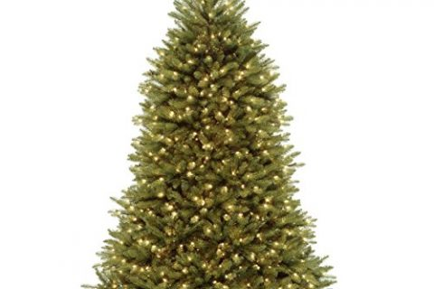 National Tree 7.5 Foot Dunhill Fir Tree with 750 Clear Lights, Hinged DUH-75LO