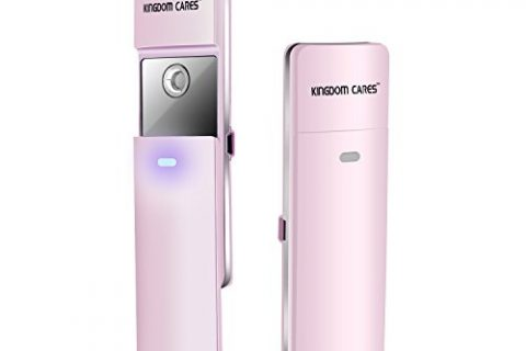 KINGDOMBEAUTY NanoSteamer Handy Nano Mister Facial Mist Spray Face Sprayer Rechargeable Sliding Nano Facial Mini Steamer Moisture Ionic Mist Sprayer Best Dry Oil Skin Treatment Moisturizing Pink