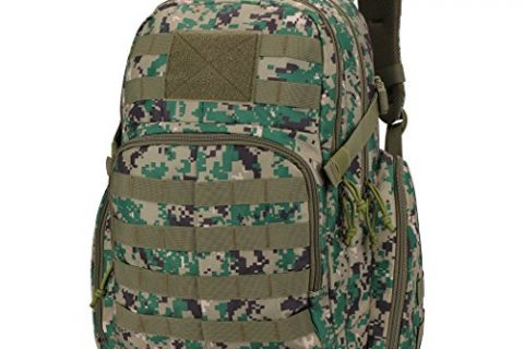 Mardingtop Tactical Backpack Military Backpack Molle Rucksack Assault Pack Bug Out Bag for Hunting Shooting Camping Hiking Traveling School Camo Green