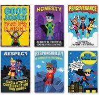 Creative Teaching Press Superhero Character Ed, Inspire U Poster 6 Pack 5649