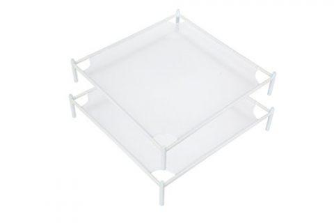 StorageManiac 2-Pack Stackable Mesh Sweater Drying-Rack, White