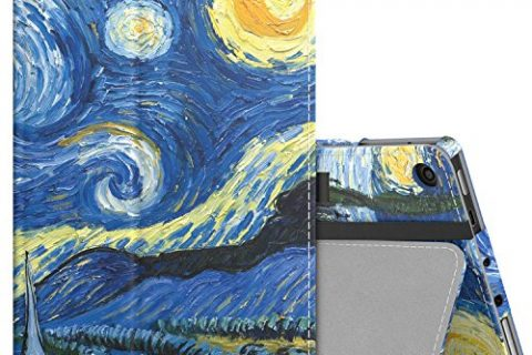 Slim Folding Stand Cover Case for Fire 7, Starry Night with Auto Wake / Sleep – MoKo Case for All-New Amazon Fire 7 Tablet 7th Generation, 2017 Release Only
