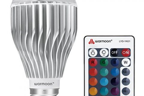 Warmoon E26 LED Light Bulb, 10W RGB Color Changing Dimmable LED Light Bulbs with Remote Control Fits E26 and E27