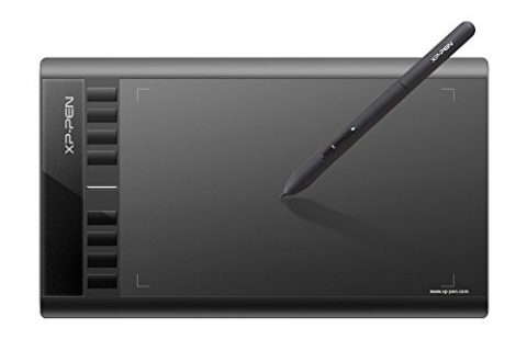 XP-PEN Star03 12″ Graphics Drawing Pen Tablet Drawing Tablet Battery-free Stylus Passive Pen Signature Board with 8 Hot Keys Black