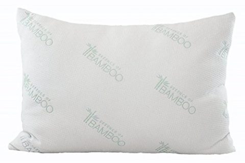 Extra Plush Series – Down Alternative Hypoallergenic Poly Bed Pillows with Bamboo Derived Rayon / Poly Cover- Crafted in USA Queen – Essence of Bamboo Derived Rayon Pillow Platinum Edition