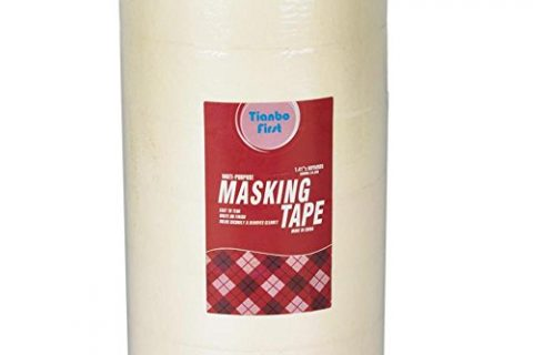 TIANBO FIRST Painter's Tape, Multi-Use Masking Tape, 1.41-Inch x 60-Yards, 6 Rolls