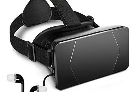Black – Emixc 3D Virtual Reality Headset VR Goggles Box with Adjustable Strap and Lens for 3.5-6.0 Inch Smartphone iPhone 7/6S/6 Plus Galaxy S8/S7 Edge 3D Movies Games – VR Glasses