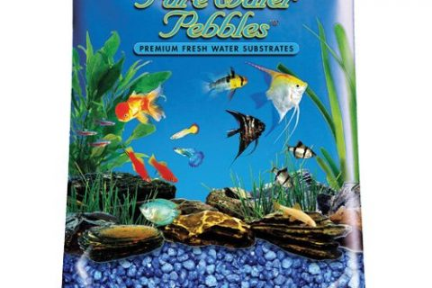 Pure Water Pebbles Aquarium Gravel, 2-Pound, Marine Blue