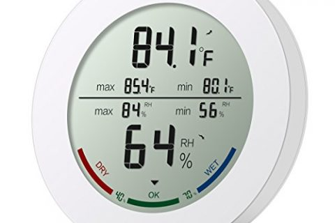 ORIA Indoor Hygrometer Thermometer, Digital Humidity Monitor, Temperature Humidity Gauge Meter, with 2.5 Inches LCD Display, ℃/℉ switch, MIN/ MAX Records, for Home, Car, Office, Greenhouse, Babyroom