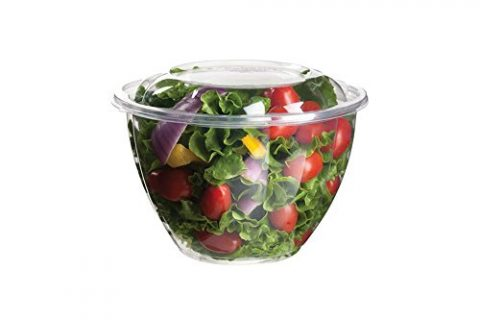 Eco-Products Renewable & Compostable Salad Bowls, 48 oz Bowl with Lid, Case of 150 EP-SB48
