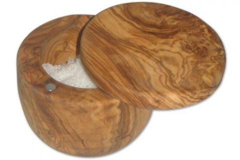 Berard Olive-Wood Handcrafted Salt Keeper