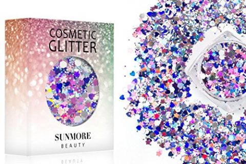 Be Yourself -Iridescent Cosmetic Glitter Christmas Festival Masquerade Sequin for Face Nail Body,Shining Makeup Glitter Paillette for Music Party Christmas Ball Black Friday