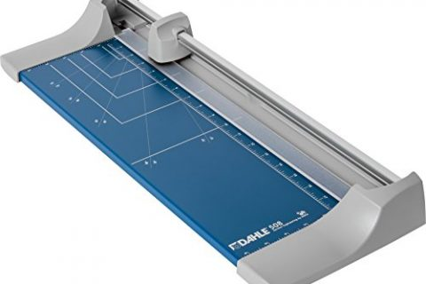 Dahle 508 Personal Rolling Trimmer, 18″ Cut Length, 7 Sheet, Self Sharpening Blade, Cuts in Either Direction, Automatic Paper Clamp Metal Base, Paper Cutter