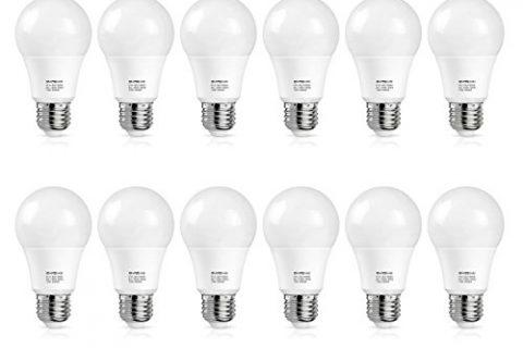 A19 LED Bulb 100W-125W Equivalent, SHINE HAI LED Light Bulbs 13W, 1500 Lumens, 3000K Warm White, E26 Medium Screw Base, Non-Dimmable, 12-Pack