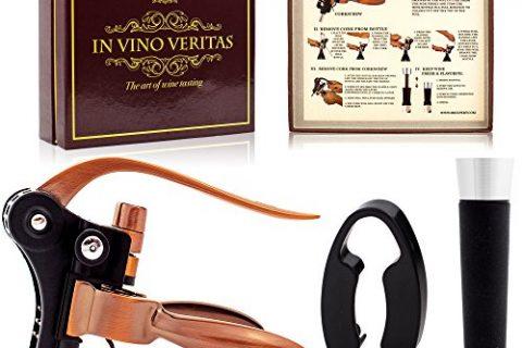 Wine Opener Corkscrew Set, Lever Style Bottle Opener, Wine Bottle Screwpull Kit, Complete Wine Accessories Gift Set by 2BExpert