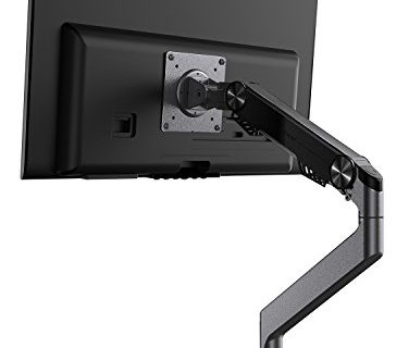 Bestand Monitor Arm Mount for Desk Stand Heavy Duty Fully Adjustable Fits 10″- 27″ Single Computer Monitor – Grey