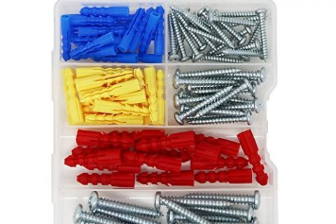 T.K.excellent Self-Tapping Screws and Ribbed Anchors Assortment Kit,100 Pieces