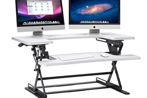 White – Halter ED-600 Preassembled Height Adjustable Desk Sit / Stand Elevating Desktop