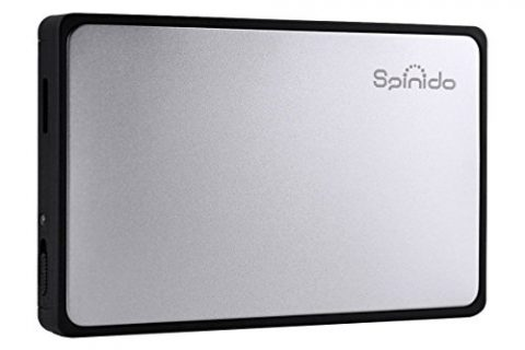 Spinido Hard Disk Enclosure Support UASP SATA III USB 3.0/2.0 Aluminum External Tool-Free Box and Mobile Device Optimized for 2.5″ SSD and HDD – Silver