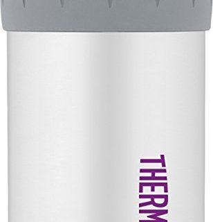 Thermos Stainless Steel Beverage Can Insulator for 12 Ounce Can, Matte White