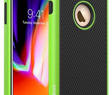 Green – OEAGO iPhone 8 Plus Case, iPhone 7 Plus Skin Drop Protection Shock Proof Hybrid Dual Layer Rubber Plastic Impact Defender Rugged Slim Hard Case Shell for Apple iPhone 8 / iPhone 7 Plus