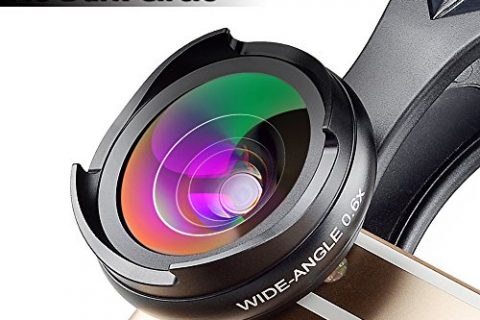 MIAO LAB Camera Lens Kit No Distortion No Dark Circle 0.6X Super Wide Angle Lens & Macro Lens Clip on 2 in 1 Cell Phone Lens for iPhone Samsung Sony and other Smart Phones