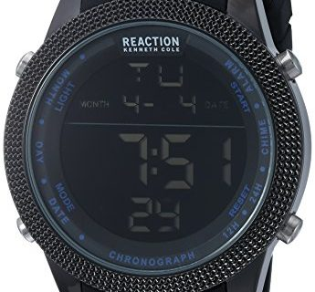Kenneth Cole REACTION Men's 'Sport' Quartz Metal and Silicone Casual Watch, Color:Black Model: 10031945