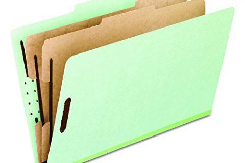 Pendaflex 17173 Pressboard Classification Folders, Letter Size, 6-Section, Green, 10 per Box