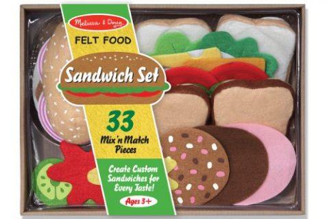 Melissa & Doug Felt Food Sandwich Play Food Set 33 pcs
