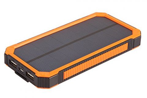 Solar Chargers 15000mAh, Soluser Portable Dual USB Solar Battery Fast Charger External Battery Pack, Solar Phone Charger Power Bank with 6LED Flashlight for Smartphones Tablet Camera