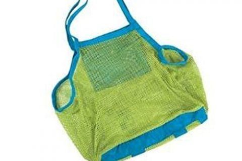 Beach Mesh Tote Bag – Yookat Beach Toys/ Shell Bag Stay Away from Sand for the Beach, Pool, Boat – Perfect for Holding Childrens' Toys Xl Size