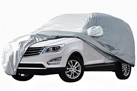 "AUDEW Car Cover SUV Cover Car Snow Cover Waterproof /Windproof/Dustproof/Scratch Resistant Outdoor UV Protection Full Car Covers For SUV Car XL 191""-201"""