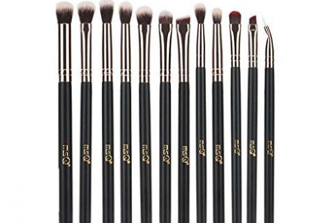 Rose Gold – MSQ 12pcs Eye Makeup Brushes Rose Gold Eye Makeup Brushes Set with Soft Natural Hairs & Real Wood Handle for Eyeshadow, Eyebrow, Eyeliner, Blending