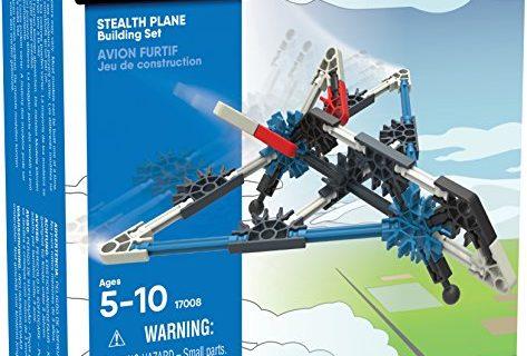Stealth Plane Building Set  60 Pieces  For Ages 5+ Construction Education Toy – K'NEX