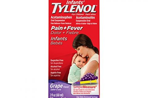 Infants' Tylenol Oral Suspension, Fever Reducer and Pain Reliever, Grape, 2 fl oz  Pack May Vary