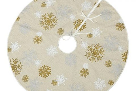 VGA 50″ Christmas Tree Skirt with Snow Pattern