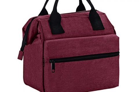 Srise Lunch Box Insulated Lunch Bag For Men &Women Meal Prep Lunch Tote Boxes For Kids & AdultsWine Red