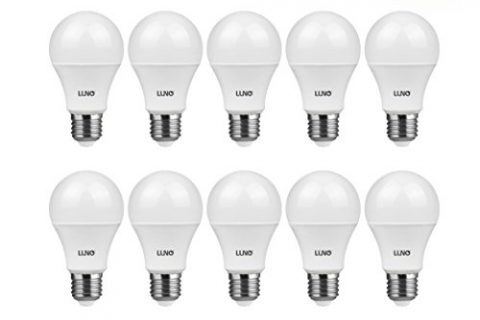 LUNO A19 Non-Dimmable LED Bulb, 9.0W 60W Equivalent, 800 Lumens, 4000K Neutral White, Medium Base E26, UL Certified 10-Pack