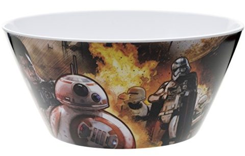 Zak! Designs Cereal Bowl with Star Wars The Force Awakens Graphics, BPA-free Melamine, 6″ diameter