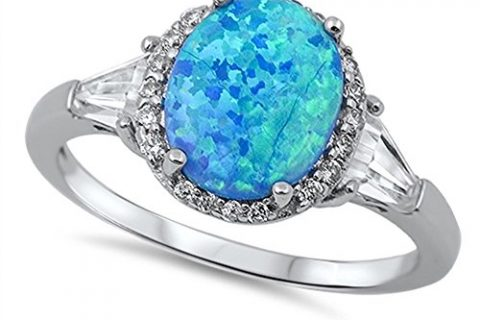 Oval Halo Cubic Zirconia Ring Sterling Silver Color Options, Sizes 4-15