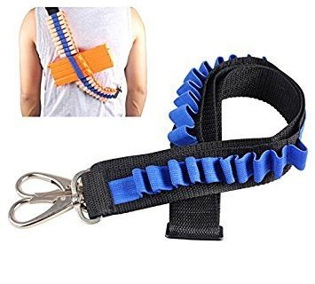 xlpace Bandolier Toy Gun Soft Bullets Belt Shoulder Strap Clip Charger Darts Ammo Storage For Cartridge Holder